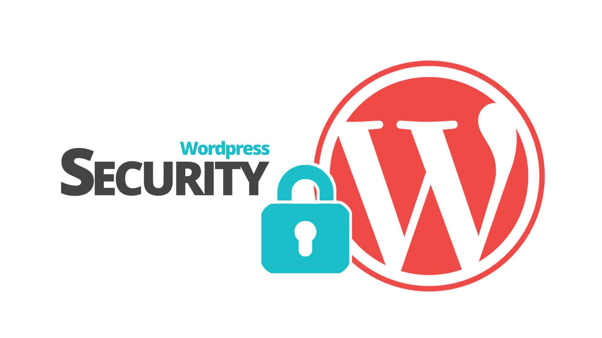 Wordpress logo med hengelås